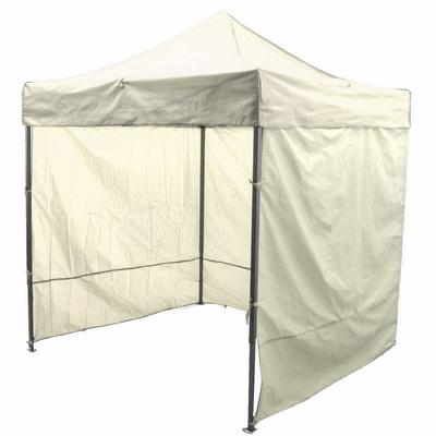 Палатка торговая 3*3, каркас складной чёрный, с молнией, цвет бежевый