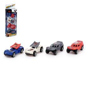 Набор машин «Рейсер», 4 шт, цвета МИКС