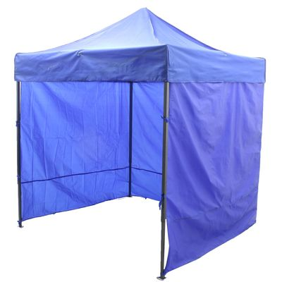 Палатка торговая 2*3 м, каркас складной чёрный, с молнией, цвет синий
