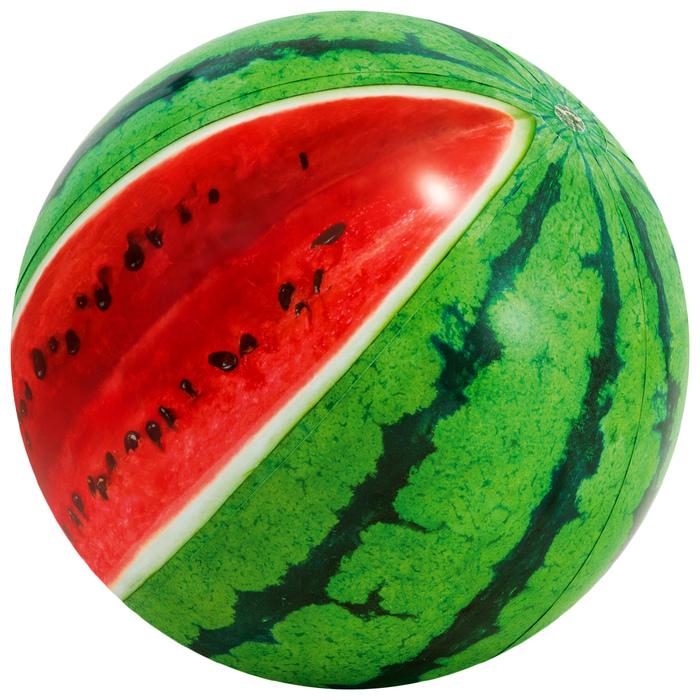 Мяч пляжный «Арбуз», d=107 см, от 3 лет, 58075NP INTEX
