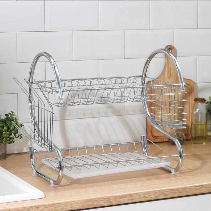 """Dish drying rack 40х23,5х34 see """"Counter"""", S-shaped"""