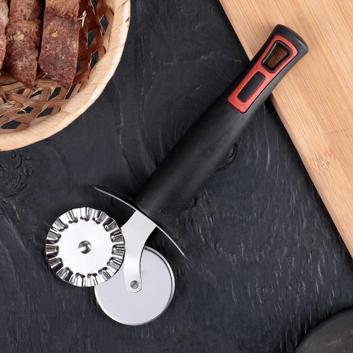 Нож для пиццы «Чили», 18,5 см, цвет чёрный - фото 308029161