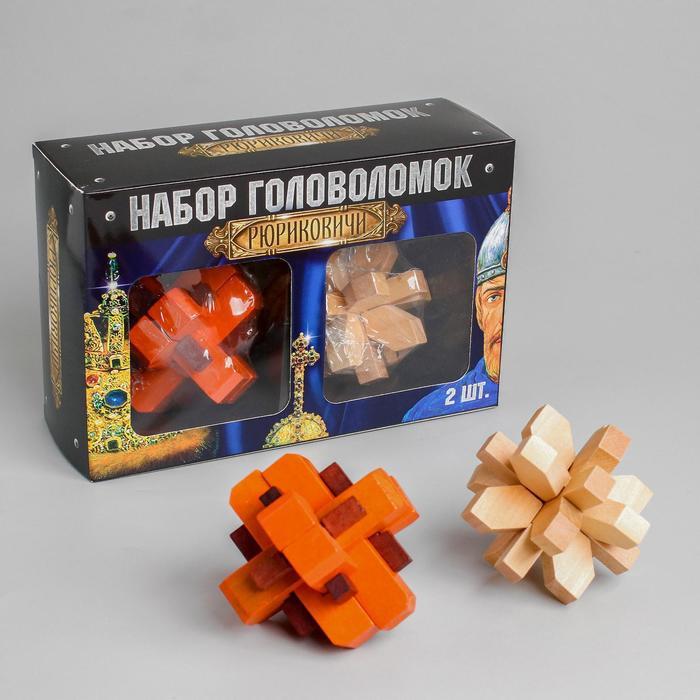 Набор деревянных головоломок «Рюриковичи» 2 шт - фото 105587793