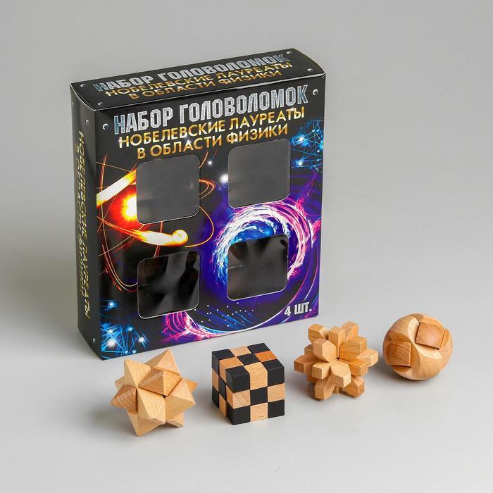 Набор деревянных головоломок «Нобелевские лауреаты» 4 шт