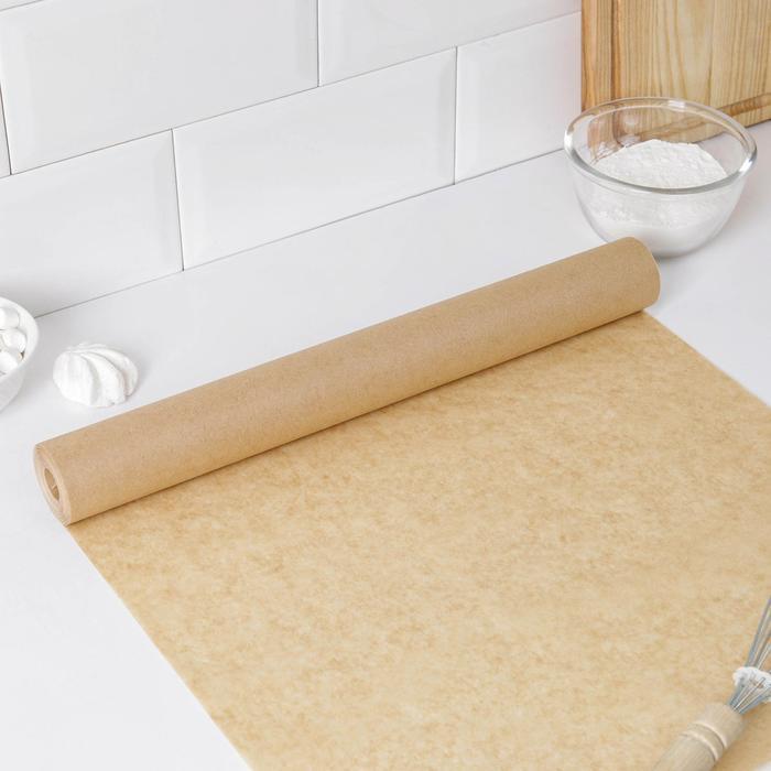 Бумага для выпечки, профессиональная 38 см х 25 м Nordic EB Golden, силиконизированная - фото 308015240