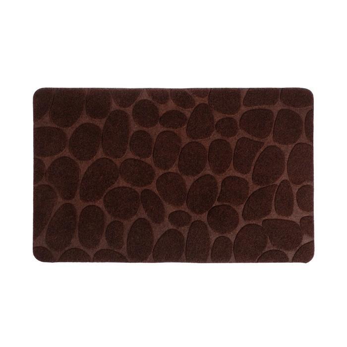 """Коврик придверный 80×40 см """"Камни"""", цвет коричневый"""