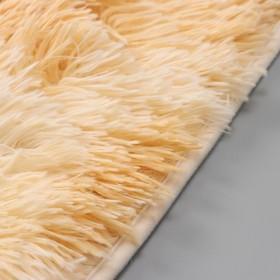 Набор ковриков для ванны и туалета «Пушистик», 2 шт: 38×40, 40×60 см, цвет бело-коричневый - фото 4652986
