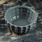 Кашпо-бонсайница керамическое серое 18*18*8 см - фото 1693053