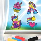 "Stained glass figurine ""rainbow unicorn"""