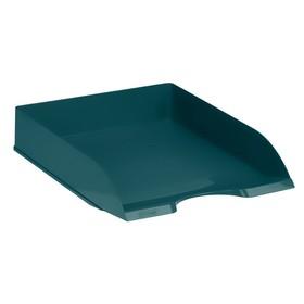 Лоток для бумаг горизонтальный «Дельта», New York, зелёный