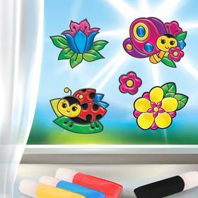 Витражные фигурки «Цветы и бабочки»