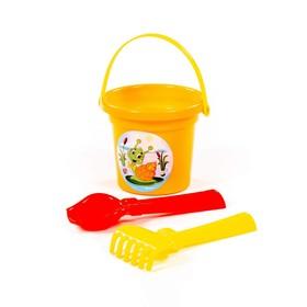 Sand set No. 29: small bucket, scoop, rake, MIX color.
