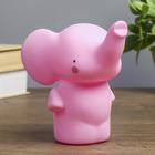 """Ночник пластик """"Слоненок"""" розовый 14х11х15 см"""