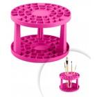 Держатель для кистей пластиковый, розовый
