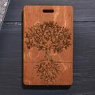 Чехол для бейджа и карточек «Дерево», 6,5 х 10,5 см