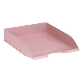 """Лоток для бумаг горизонтальный, """"ДЕЛЬТА. Paris"""", розовый"""