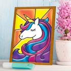 """Stained glass mini-painting """"Unicorn"""""""