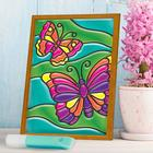"""Stained glass mini-painting """"Butterfly"""""""