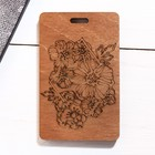 Чехол для бейджа и карточек «Цветы», 6,5 х 10,5 см