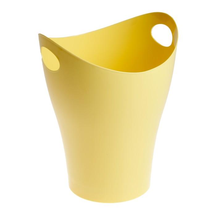 Корзина для бумаг 8 литров Pastel, жёлтая