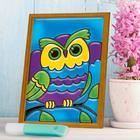 """Stained glass mini-painting """"Owl"""""""