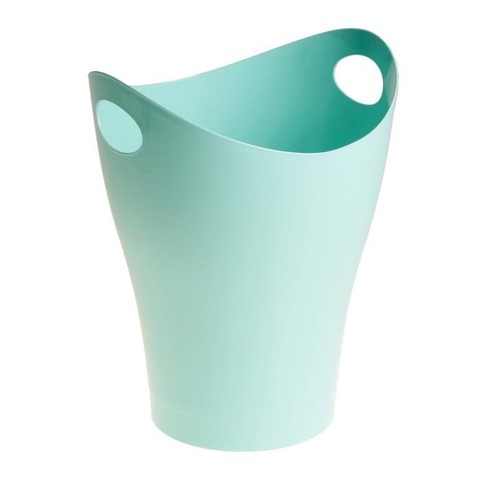 Корзина для бумаг 8 литров Pastel, голубая