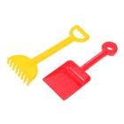 Песочный набор №59: лопатка малая, грабельки малые, цвета МИКС