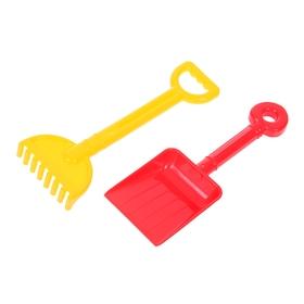 Песочный набор №59: лопатка малая, грабельки малые, цвета МИКС Ош