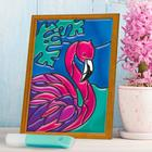 """Stained glass mini-painting """"Flamingo"""""""
