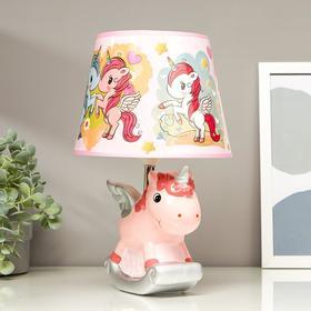 """Лампа настольная """"Единорог"""" розовый E14 40Вт 220В 32х20х20 см"""