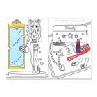 Раскраски А5 для девочек набор из 8 шт. по 12 стр. - фото 105668436