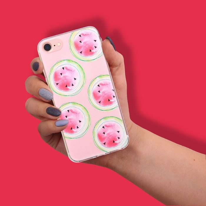 Чехол для телефона iPhone 7 с рельефным нанесением Summer, 6.5 × 14 см