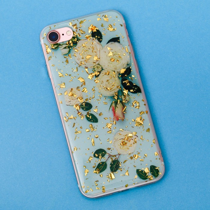 Чехол для телефона iPhone 7 с фольгированием «Нежность», 6.5 × 14 см