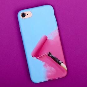 Чехол для телефона iPhone 7 «Раскрась», soft touch 6.5 × 14 см - фото 70791