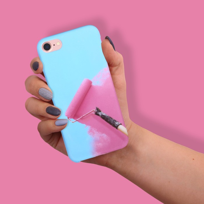 Чехол для телефона iPhone 7 «Раскрась», soft touch 6.5 × 14 см - фото 70790
