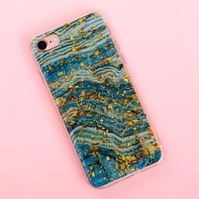 Чехол для телефона iPhone 7 с фольгированием Azure, 6.5 × 14 см