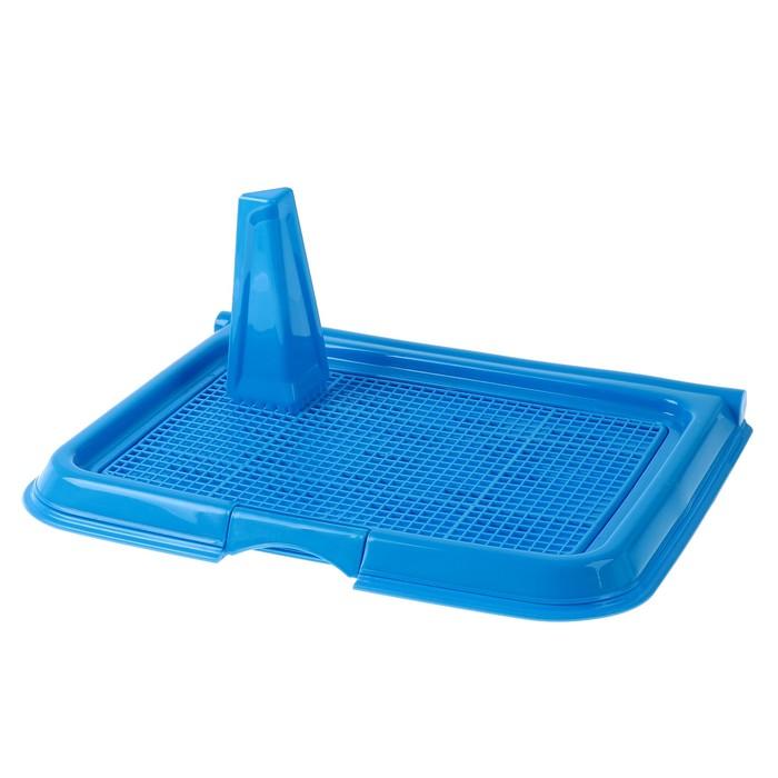 Туалет многофункциональный (под пеленку, со съемной сеткой), 49х36,5х4 см, синий