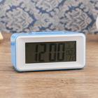 Alarm clock electronic backlight, temperature, date, battery 2ААА, 11х4.5x5 cm