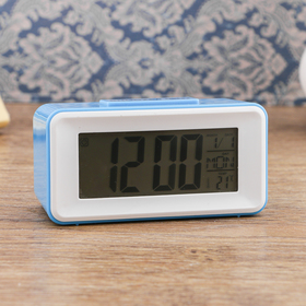 Alarm clock electronic backlight, temperature, date, battery 2AAA, 11x4.5x5 cm