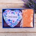 """Подарочный набор """"С праздником весны"""": шкатулка-сердце + соль для ванны"""