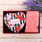 """Подарочный набор """"Самой прекрасной маме на свете"""": шкатулка-сердце + соль для ванны"""