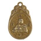 """Сувенир металл подвеска 2-е стороны """"Будда и хотей"""" 4,3х2,7 см"""