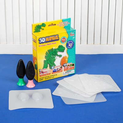 """Set to create 3D shapes from gel """"Dino"""" required hardener, 2 color gel, 20 g"""