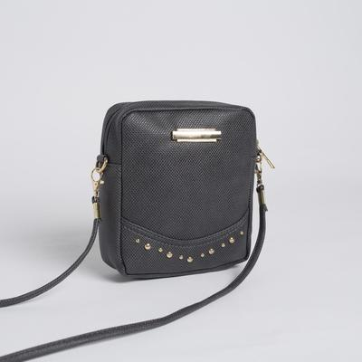 Bag, Department, with zipper, long strap, color dark blue