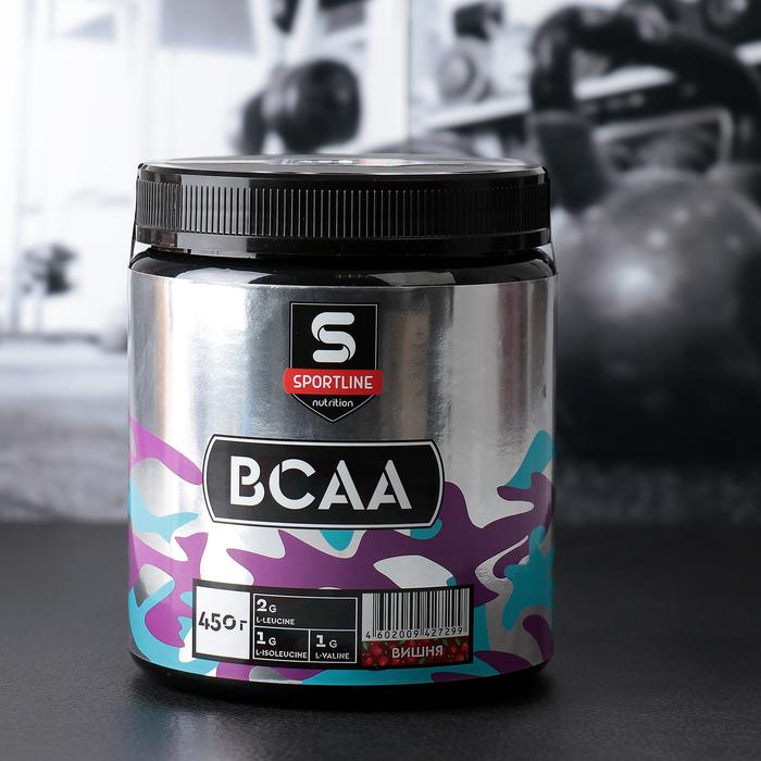 Аминокислоты SportLine BCAA, вишня, 450 г