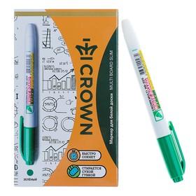 Маркер для доски 2.0 мм Crown Multi Board Slim WB-505, зелёный