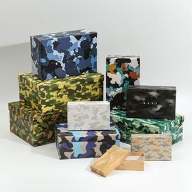 Набор подарочных коробок 10 в 1 «Хаки», 32.5 × 20 × 12.5‒12 × 7 × 4 см