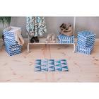 Органайзер для белья «Зигзаг», 32×24×12 см, 8 ячеек, цвет синий - фото 4640761