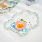 Тарелка с соусником «Зайка», 21,5 × 19 × 3 см - фото 105461348