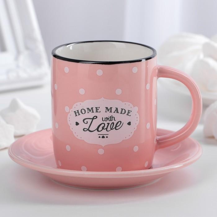 Кофейная пара «Уютный дом», 180 мл, цвет МИКС - фото 242503